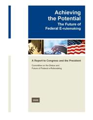 Cover E-rulemaking